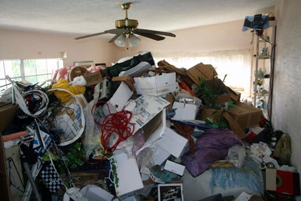 a home full of rubbish in desperate need of a house clearance