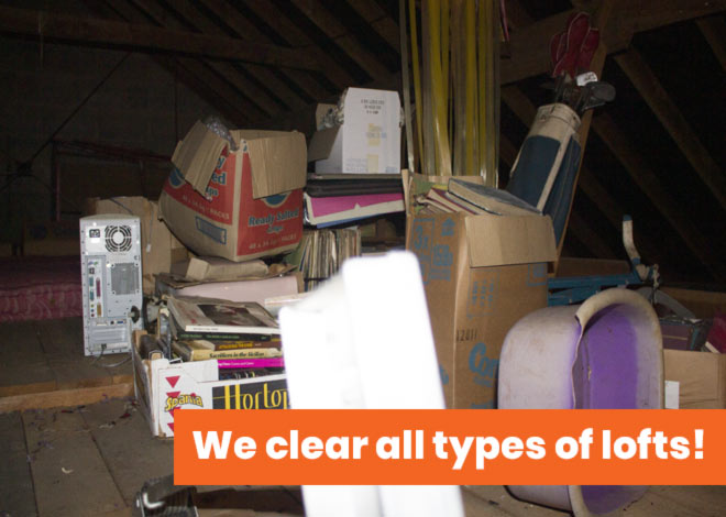 loft clearance with message we clear all types of lofts