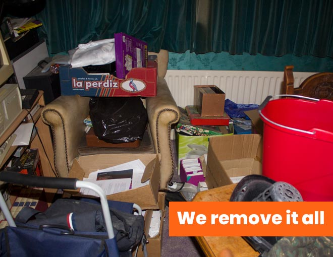 rubbish clearance with text we remove it all